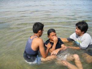Baptizing Albert